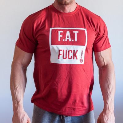 Tričko FAT FUCK Bordové