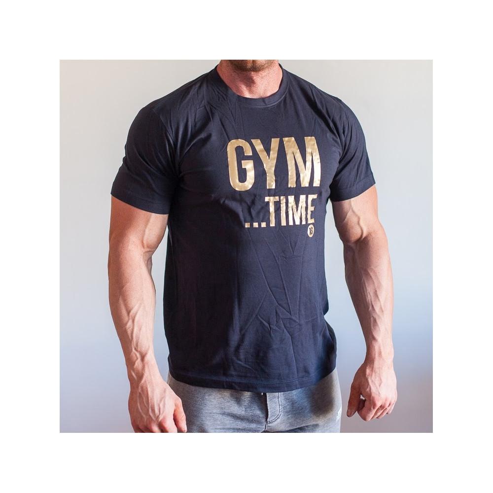 Tričko GYM TIME tmavě modré