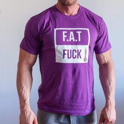 Tričko FAT FUCK fialové