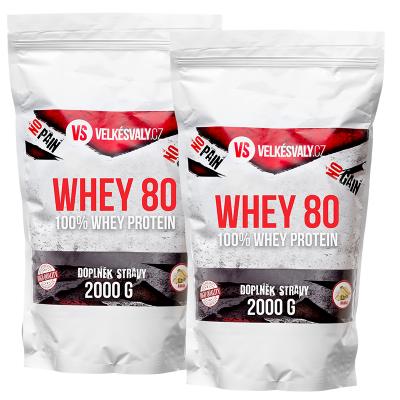 1+1 SLEVA 100% Whey protein - WHEY 80 - 2000g