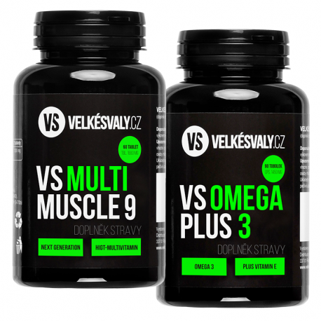 1+1 zdarma VS MULTI MUSCLE 9 + OMEGA 3 PLUS