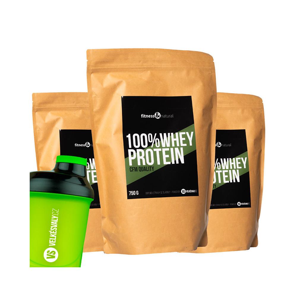 3x 100% Whey protein + šejkr